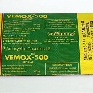 Acquista amoxicillina: Vemox 500 Prezzo