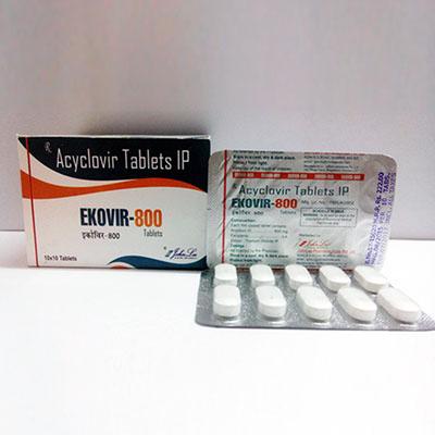 Acquista Acyclovir (Zovirax): Ekovir Prezzo